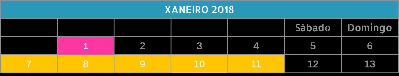 2019-01 Xaneiro (1 semestre)